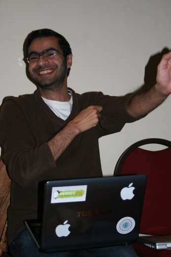 Ali at the Arabloggers workshop in Beirut, December 2009