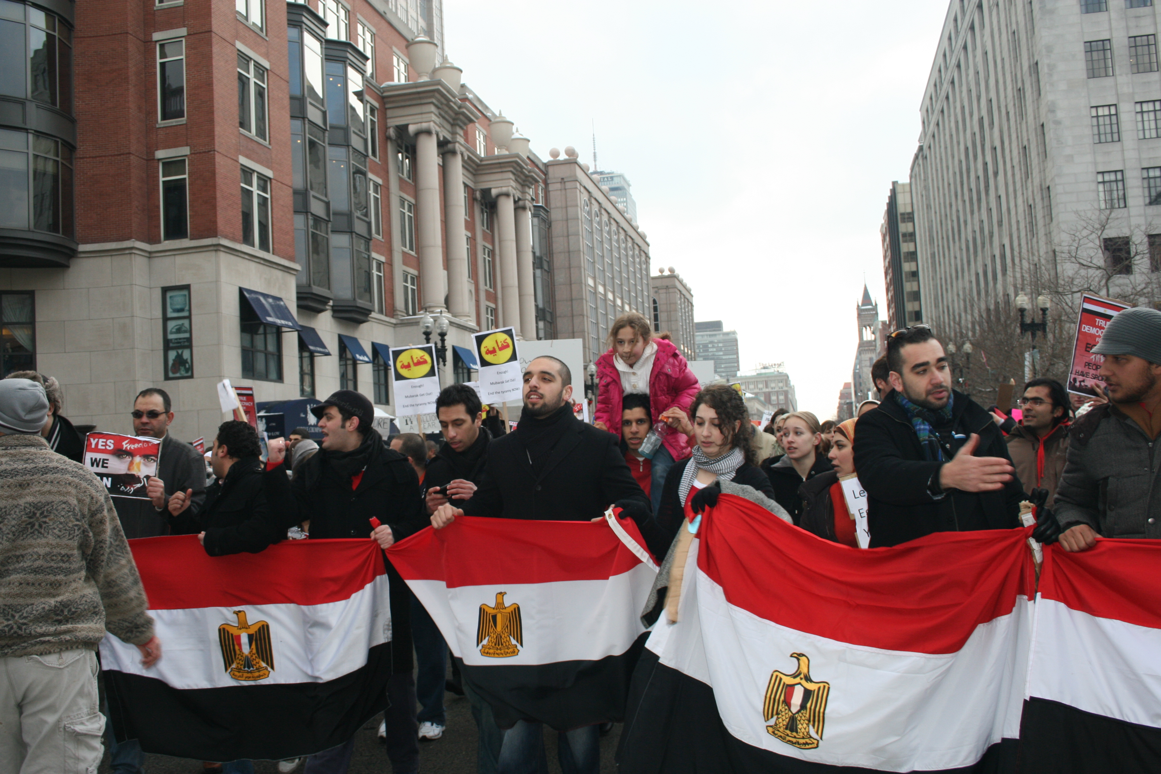 Bostonians marching for Egypt